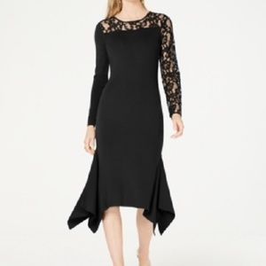 New INC Lace Inset Sweate Party Cocktail Dress